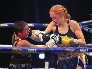 Rachel Ball overpowered Jorgelina Guanini in their WBC Super Bantamweight interim title fight last month