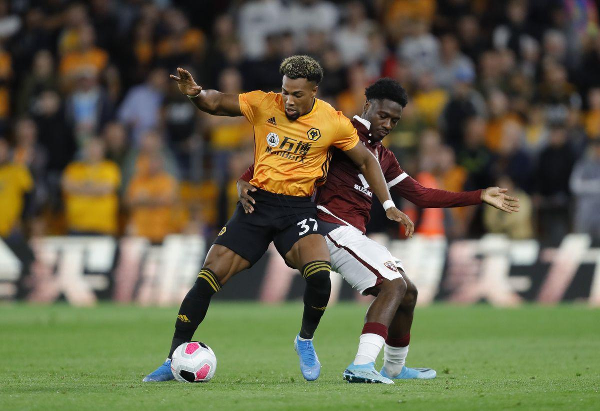 Adama Traore of Wolverhampton Wanderers and Ola Aina of Torino (AMA)