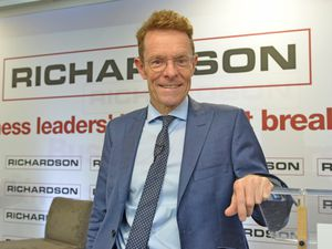 SANDWELL COPYRIGHT TIM STURGESS EXPRESS AND STAR......14/09/2021 WBA Richardson Suite - business breakfast being run by Richardson. Pictured, guest speaker Andy Street..