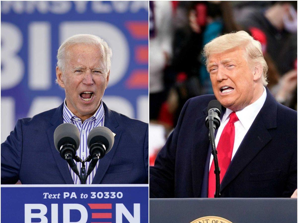 Donald Trump and Joe Biden enter final full week of campaigning