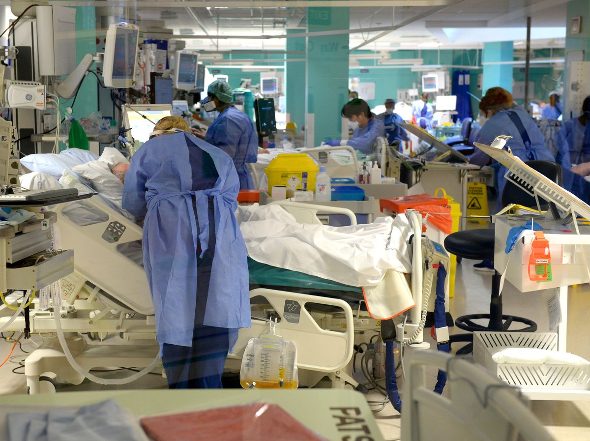 Inside the expanded intensive care unit at New Cross Hospital in Wolverhampton
