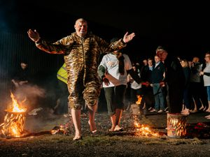 Firewalk at Black Country Living Museum in support of the Acorns Children's Hospice