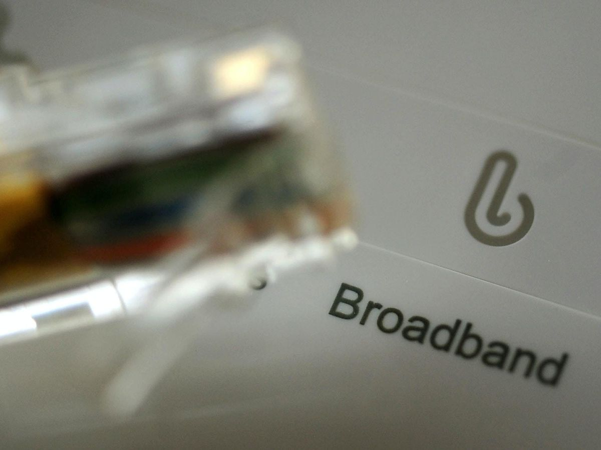 A broadband cable and router