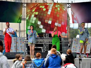 The stage was kept busy throughout the day with different acts and performances