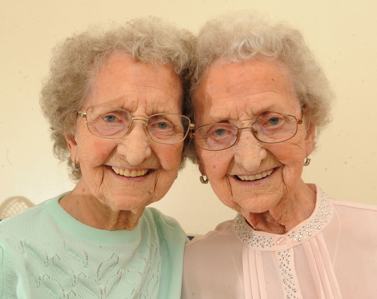 Lilian and Doris still do their own shopping and don't use walking sticks