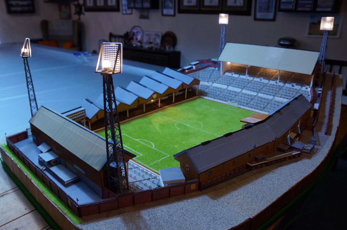 Under the lights - the model even has its own working floodlights