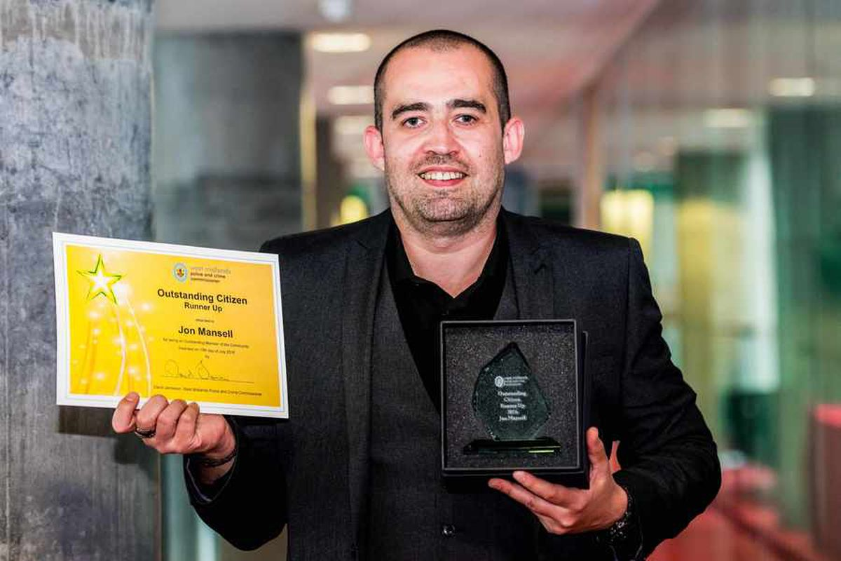 Runner up Jon Mansell, who runs a support group for men struggling with addiction and depression