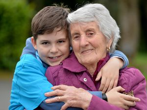 Finley Stevens took on a 10-mile Memory Walk for the Alzheimer's Society inspired by his great-grandmother Tina Di Franco