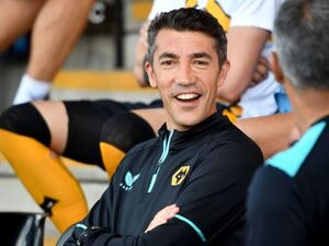 Wolverhampton Wanderers' manager Bruno Lage during the pre-season friendly match at Mornflake Stadium, Crewe. PA Photo. Picture date: Saturday July 17, 2021. See PA story SOCCER Crewe. Photo credit should read: Anthony Devlin/PA Wire...RESTRICTIONS: Use subject to restrictions. Editorial use only, no commercial use without prior consent from rights holder..