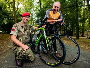 Staff Sergeant Jason Claydon-Brookes, left, and Hugh Porter, have contributed towards the £25,000 raised for Compton Care