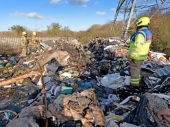 Fire breaks out in 100-ton rubbish pile next to Oldbury allotments
