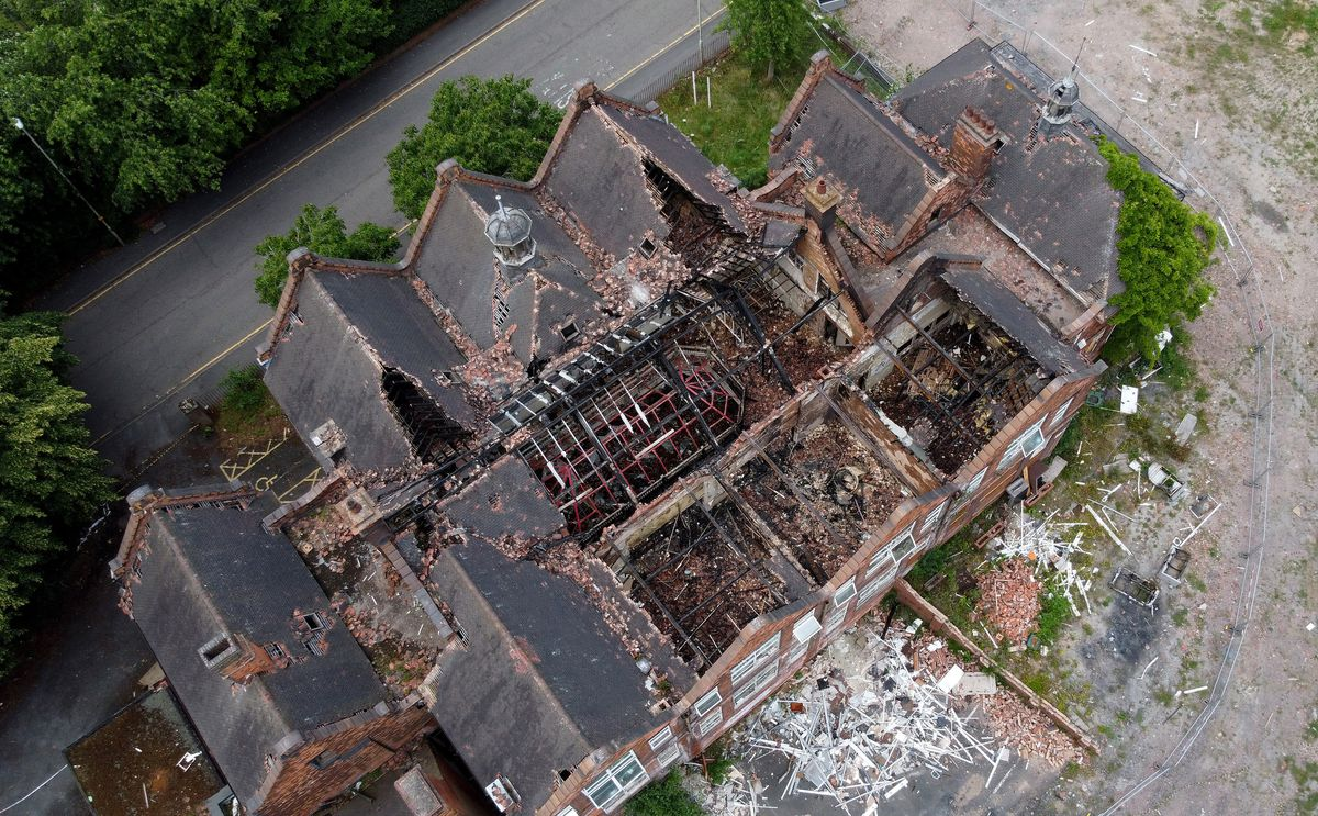 Aerial pics showing full devastation after last year's fire