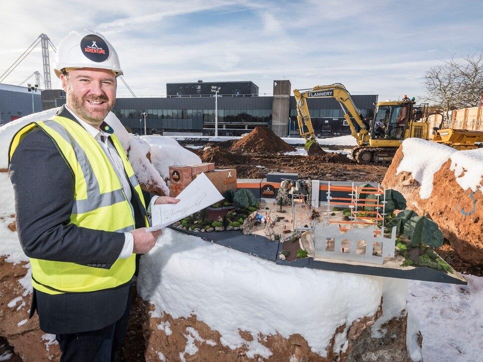 Construction under way at NEC's Bear Grylls Adventure