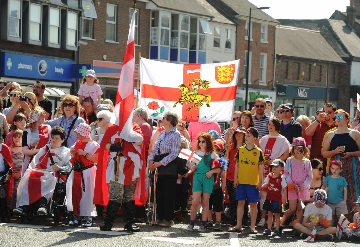 A previous St George's Day parade at Newport