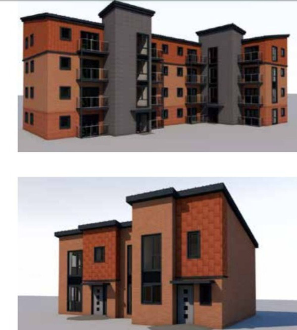 An artist's impression of how new housing in Heath Town, Wolverhampton, will look. Photo: Walker Troup Architects
