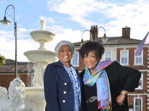 WOLVERHAMPTON COPYRIGHT EXPRESS AND STAR STEVE LEATH 06/10/2021..Pic in Wolverhampton at the Ramada Park Hall Hotel,  to promote a charity doo coming up, organised by L-R: Deloris Smith (Beverley Knights mom), and Kay Hinton (Lenny Henrys sister)..