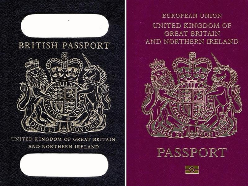 British company drops bid to make blue passports