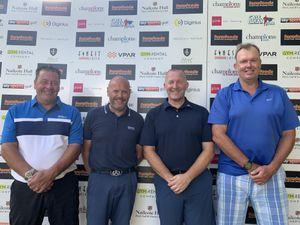 The winning team (from left) Michael Oates, Sean Lakin, Paul Deakin and Claude Henderson.