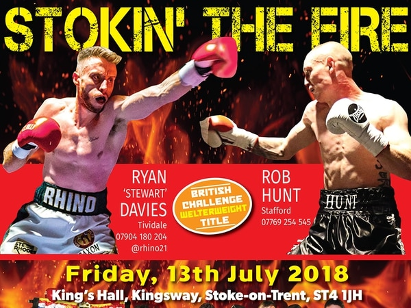 Ryan Stewart Davies to face Rob Hunt for title