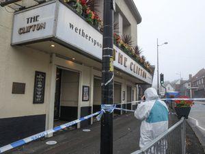 Investigators at the scene in Sedgley. Pic: SnapperSK