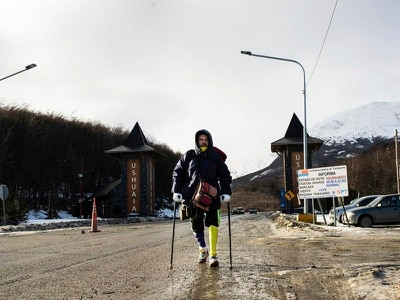 Venezuelan man who lost leg in accident completes trek across South America