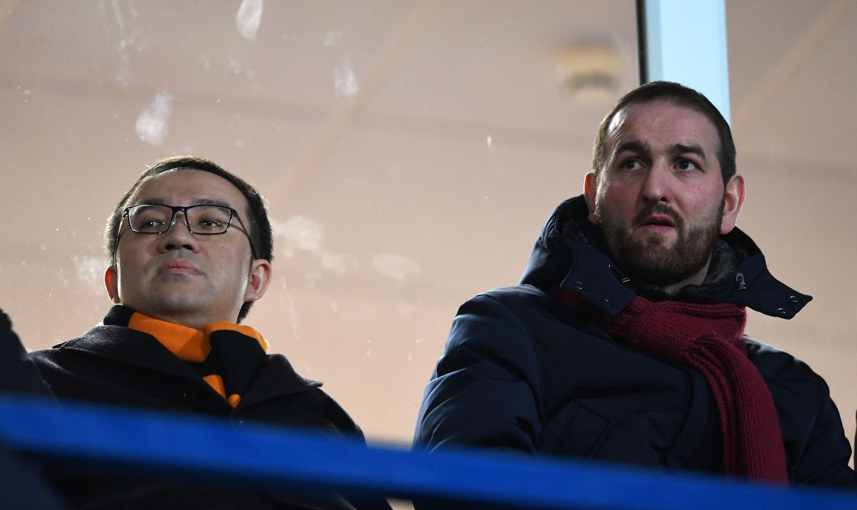 Jeff Shi of Fosun International Limited and Wolverhampton Wanderers and Sporting Director Kevin Thelwell
