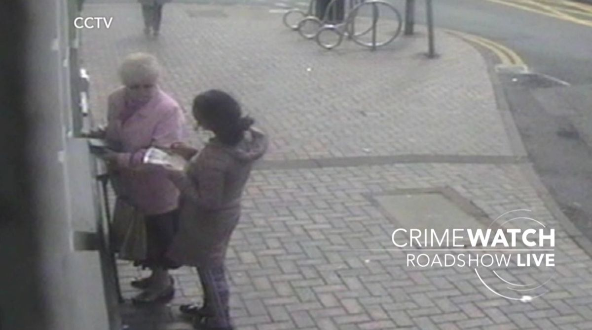 The woman approached Doreen Jones at a cash point in High Street, Blackheath. Photo: BBC Crimewatch Roadshow