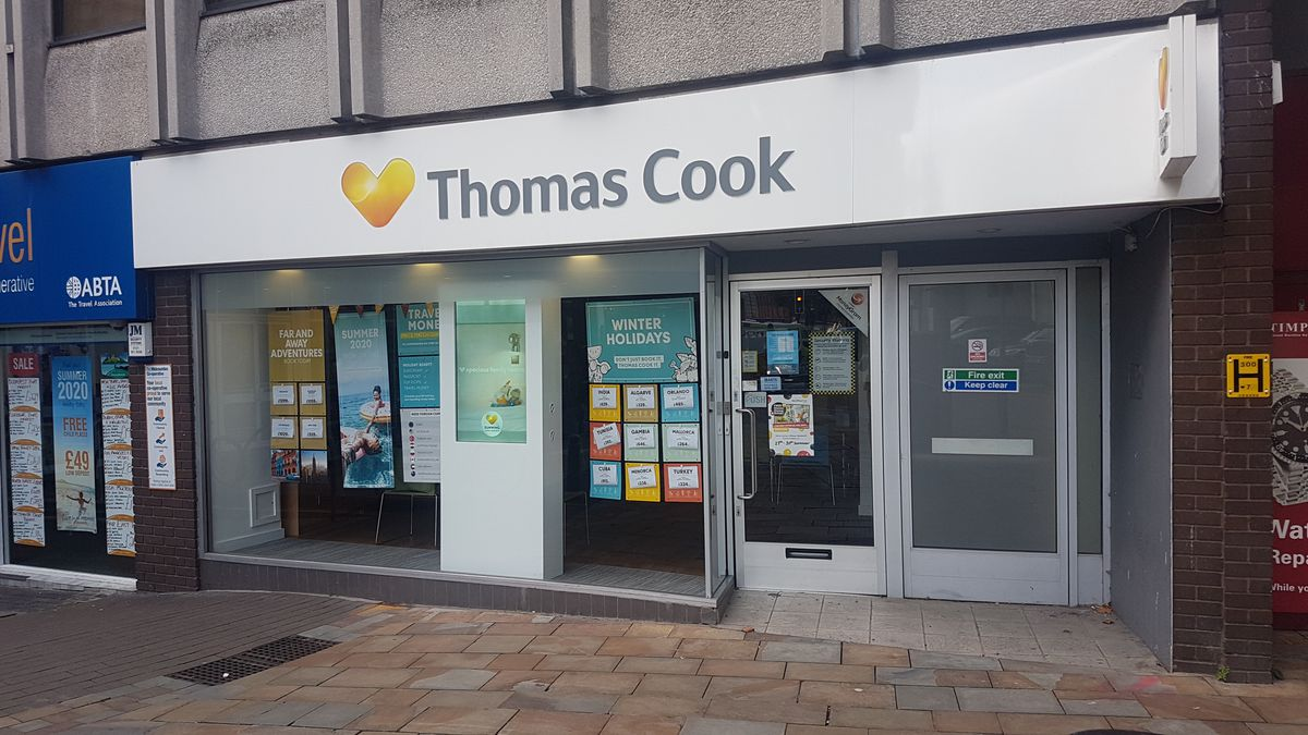 Wolverhampton's Thomas Cook branch was closed on Monday