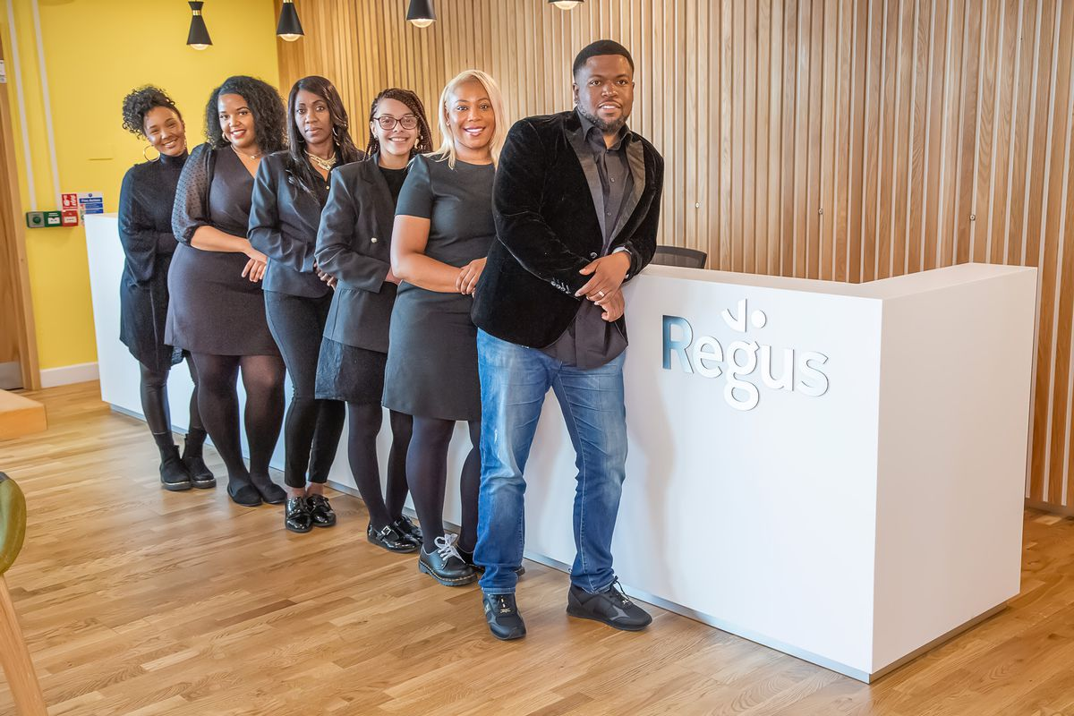 Sabrina Dennis (second from right) and the team at Wolverhampton-based charity, First Class Foundation