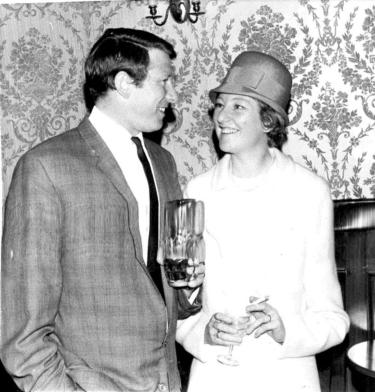Susan and Peter's wedding day in May 1967 in Wolverhampton, when she was aged 28