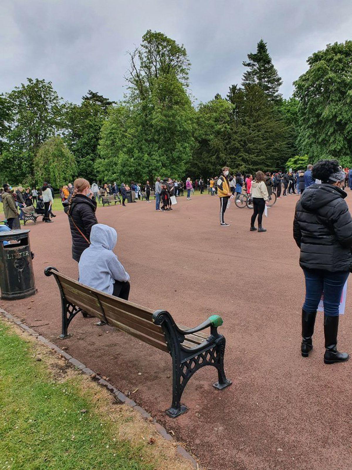 Wolverhampton's West Park held a Black Lives Matter rally on Sunday. Image: Dave Sheldon