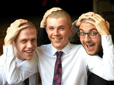 It's hair today, gone tomorrow as pupils' heads shaved for charity