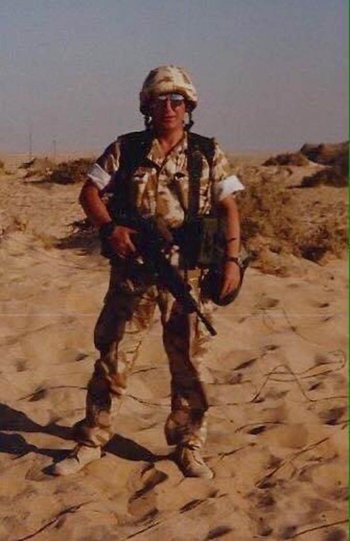 Keith Hodgson, from Rugeley,.in the desert