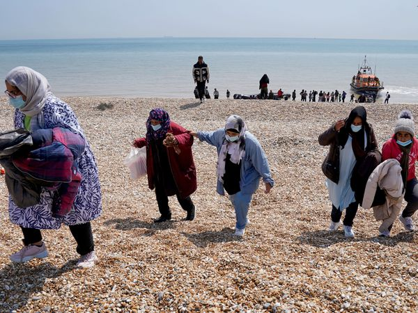 People thought to be migrants arrive at Dungeness in Kent