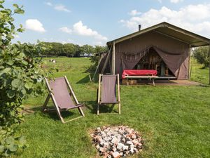 Luxury camping at a farm