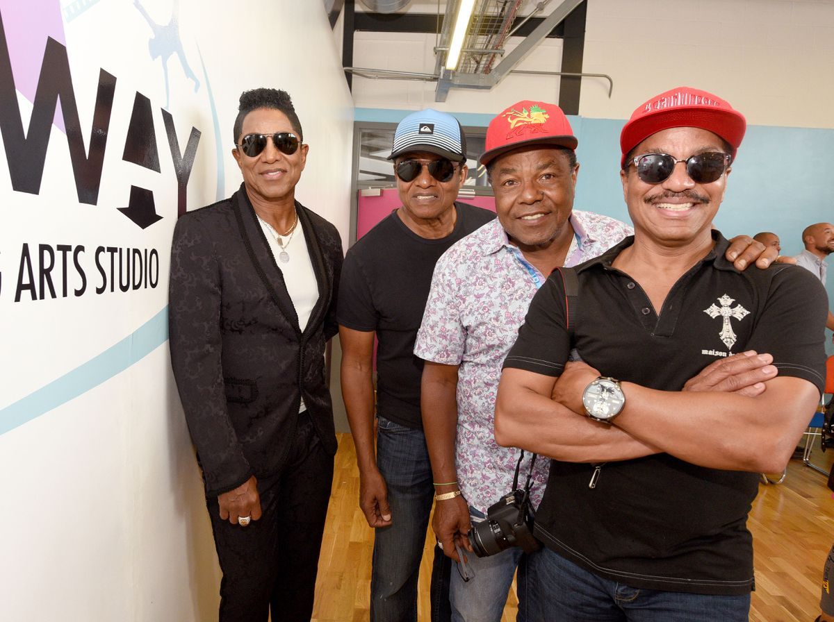 The Jacksons visit The Way, Wolverhampton