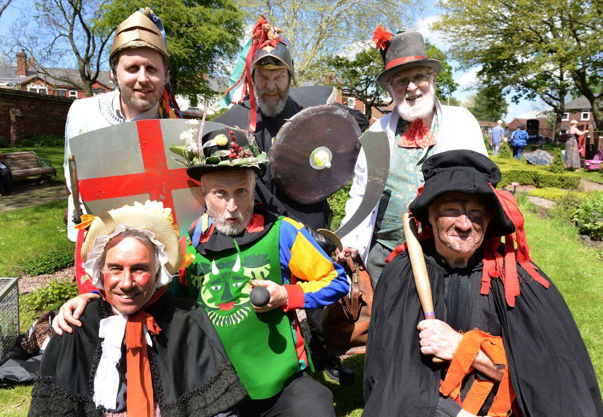 The Erdington Mummies entertain the crowds at the Green Man Festival at Oak House Museum, Oak Road, West Bromwich