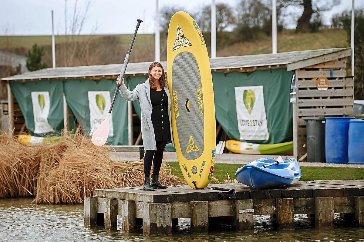 Laura Wilde at Salop Leisure, which has seen a surge in bookings for glamping