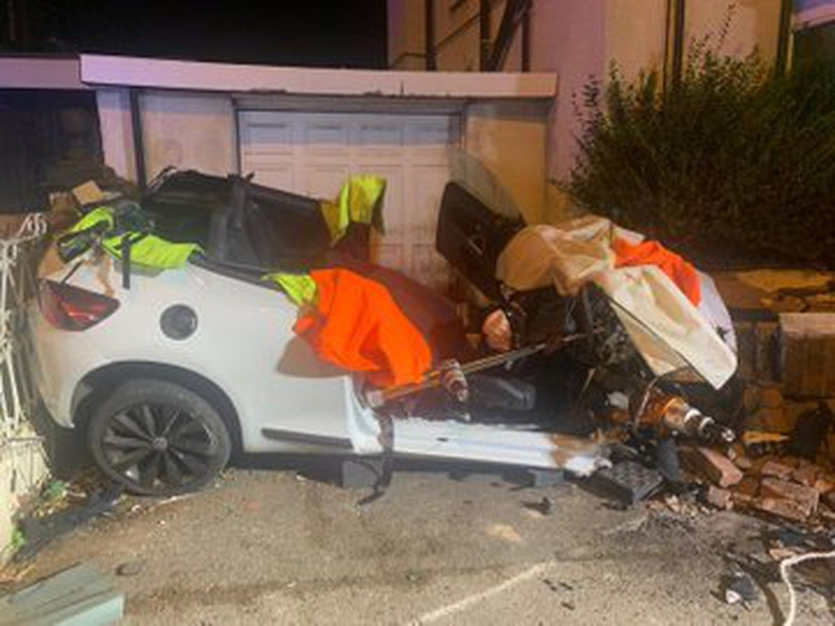 One man was taken to New Cross Hospital after the crash. Photo: Bilston Fire