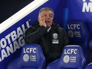 A dejected Sam Allardyce head coach / manager of West Bromwich Albion watches his side lose 3-0. (AMA)