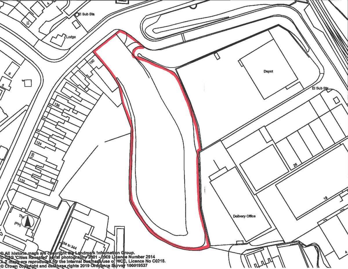 Wolverhampton Council's map showing the proposed site