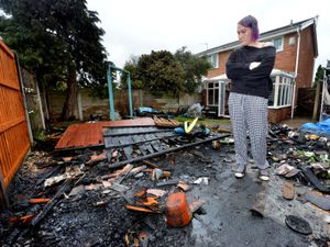 Laura McClure has been left devastated after the craft business set up in her garden was destroyed by fire