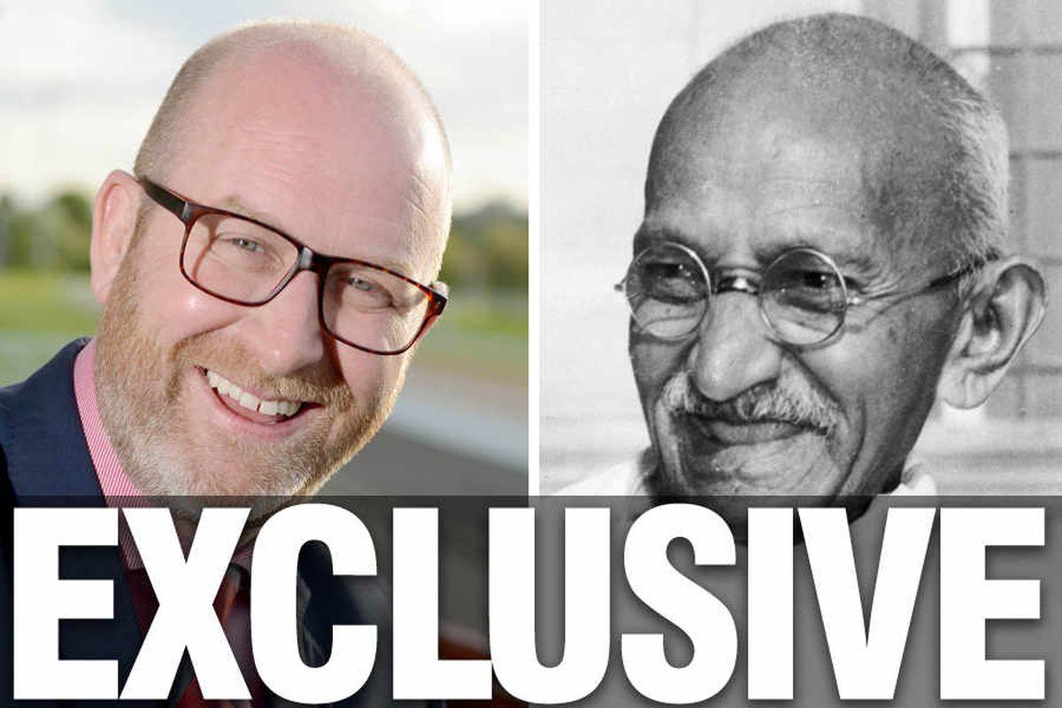 General Election: I'm like Gandhi, says UKIP leader Paul Nuttall in Wolverhampton