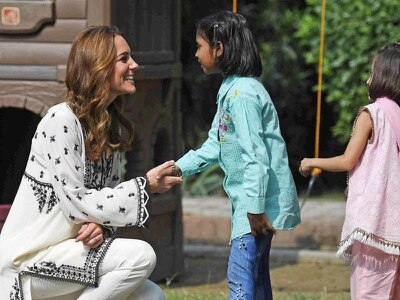In Pictures: William and Kate return to Pakistani children's village
