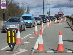 Street lights replacement completed on A34 flyover at M6 junction in Great Barr