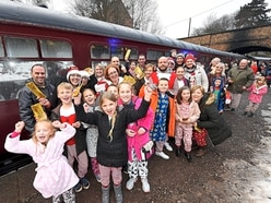 Delight as steam railway comes to the rescue for families - with video