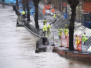 Severe flooding in Ironbridge in February
