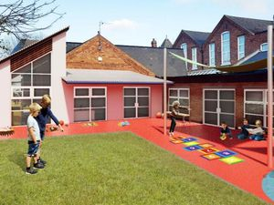 An artist impression of the proposed new play area at All Saints Nursery. Photo: Architettura Design Limited