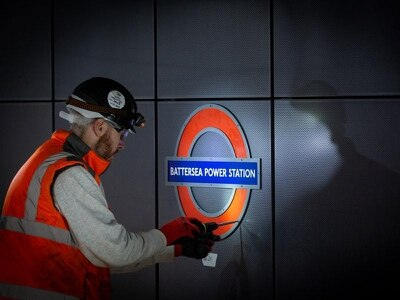 Tube roundels installed at new station in Battersea