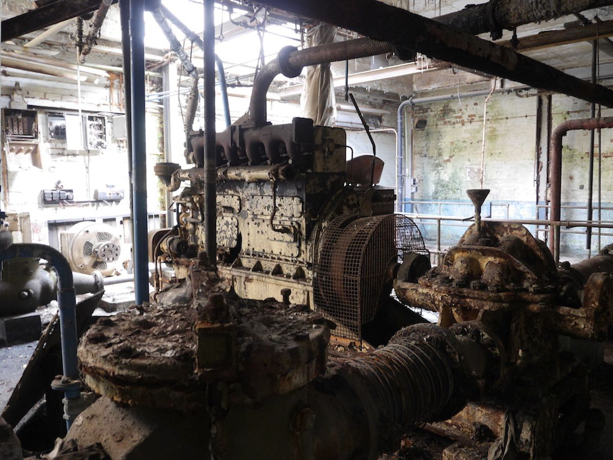 Machinery has rusted and decayed